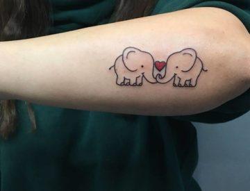 Elefanten Herz Tattoo von Laura gestochen - Blutkunst Tattoo & Piercing Studio - Freiburg