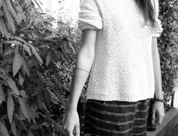 Linie Unterarm von Laura tätowiert