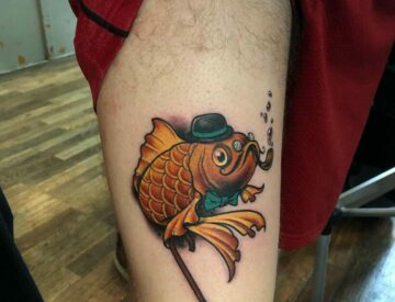 Neotrad neotraditional Tattoo Fish funny