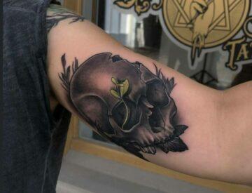 Skull realisitic bng Blackandgray Blutkunst